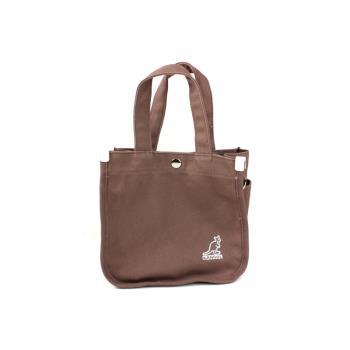 KANGOL 側背包 帆布袋 咖啡色 6955301602 noA37