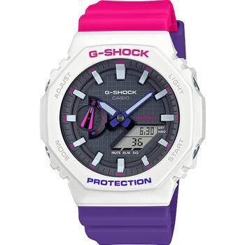 G-SHOCK 撞色設計復古配色運動錶(GA-2100THB-7A)