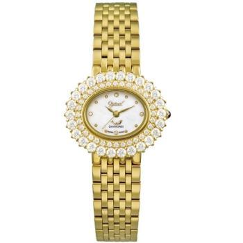 Ogvial 瑞士愛其華-薔薇系列璀璨時尚真鑽腕錶-金 380-03DLK