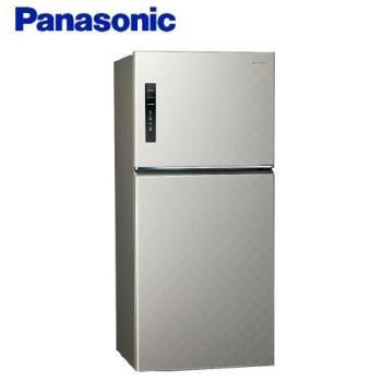 買就送多功能雙面砧板+6吋陶瓷刀★Panasonic國際牌650公升一級能效雙門變頻冰箱(星耀金)NR-B659TV-S1 (庫)