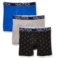 NAUTICA  2020男時尚彈力藍灰黑四角修飾內著混搭3件組