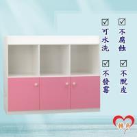 轉角傢俱-塑鋼置物櫃 防潮防水防發霉 (寬122深41高102)五色可選
