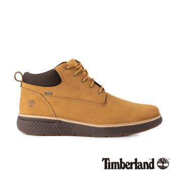 Timberland 男款小麥色Cross Mark正絨面皮革休閒鞋A1TQA231