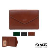 【OMC】歐風Fronts原皮信封式仕女雙面多卡中夾(咖啡)