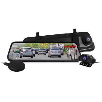 CARSCAM行車王 GS9400 GPS測速全螢幕觸控雙1080P後視鏡行車記錄器(贈32G)