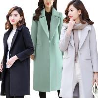 【A1 Darin】韓版時尚大翻領毛呢大衣