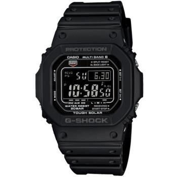 CASIO G-SHOCK 酷黑經典5600太陽能六局電波錶(GW-M5610-1B)