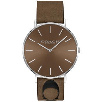 COACH Thompson 時尚Logo文青手錶/咖啡/40mm/CO14602419
