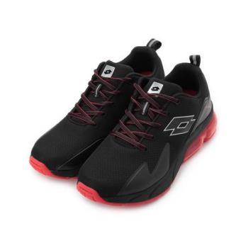 LOTTO VOLARE RUN 反光氣墊跑鞋 黑紅 LT9AMR1130 男鞋 鞋全家福