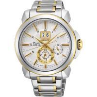 SEIKO 精工Premier人動電能萬年曆手錶-銀x雙色 7D56-0AG0K(SNP166J1)