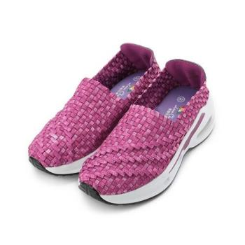 Leon Chang 雨傘牌 金蔥編織套式氣墊鞋 粉 LDL7687 女鞋 鞋全家福