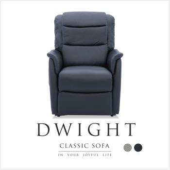 H&D 德懷特半牛皮機能電動單人沙發-2色