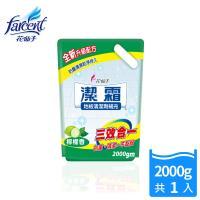 【潔霜】地板清潔劑補充包-檸檬香(2000g/入)