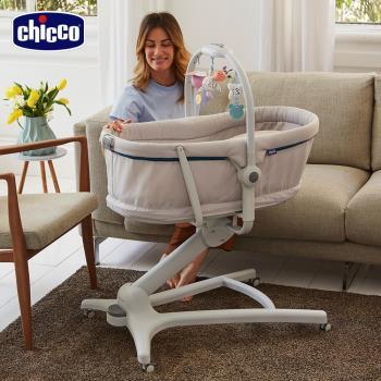 【贈專用蚊帳 尿布台】chicco-Baby Hug多功能成長安撫嬰兒床-多色
