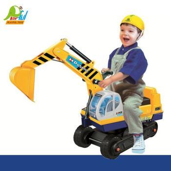 Playful Toys 頑玩具 騎乘挖土機滑步車138A (幼兒學步車 仿真造型車 兒童玩具 怪手學步車 騎乘玩具 挖掘車)