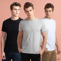 GIORDANO  男裝簡約素色純棉圓領短袖T恤三件裝  (多色任選)