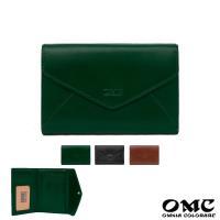【OMC】15卡1照歐風原皮信封式仕女中夾(綠色)