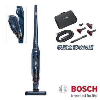 【BOSCH 博世】二合一直立式無線吸塵器 BBHL2214TW 海軍藍(配件包組)