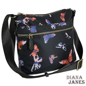 包【Diana Janes 黛安娜】輕量斜紋配皮多袋包
