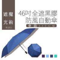 雙成和 46吋全遮光黑膠高密度抗UV三折防風自開收傘 (買一送一)