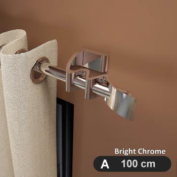 【GCurtain】翱翔鷹翼 流線造型金屬窗簾桿套件組 #GCZH021 (100 cm)
