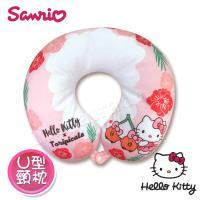 Hello Kitty x 熱帶水果鳥 超可愛聯名款 U型枕 頸枕 汽車U型頸枕 午安枕 抱枕 靠枕 多用途(正版授權)