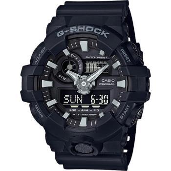 CASIO G-SHOCK GA-700系列絕對強悍雙顯腕錶-黑(GA-700-1B)