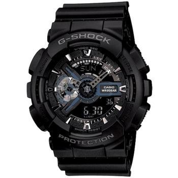 CASIO G-SHOCK 簡潔低調男錶-黑_GA-110-1B