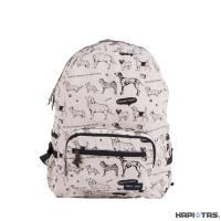 HAPI+TAS H0006 摺疊後背包-291白色滿版小狗