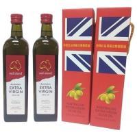 [澳利康]澳洲Red Island(紅島)特級冷壓初榨橄欖油750ml單入禮盒X2