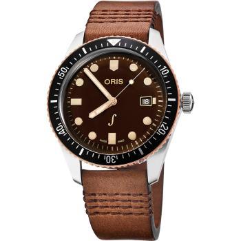 Oris豪利時 琴宇謙揚限量手錶-咖啡/42mm 0173377204388-SetLS