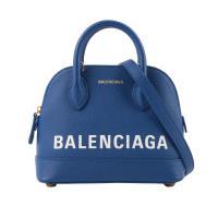 BALENCIAGA  VILLE TOP HANDLE二用貝殼包 XXS(藍色) 550646 0OTDM 4130
