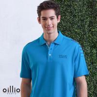 oillio歐洲貴族 男裝 短袖舒適透氣POLO衫 素面簡約休閒 天然彈力棉衣料 藍色 - 男款 網眼編織 吸濕排汗