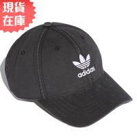 Adidas ORIGINALS ADICOLOR WASHED 老帽 休閒 純棉 水洗斜紋布 黑【運動世界】DV0207