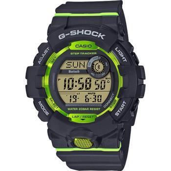 CASIO 卡西歐 G-SHOCK 藍芽運動手錶-螢光綠 GBD-800-8