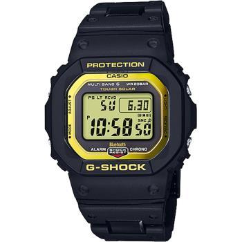 CASIO 卡西歐 G-SHOCK 藍芽電波手錶-金 GW-B5600BC-1