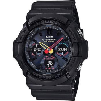 CASIO 卡西歐 G-SHOCK 東京霓虹太陽能手錶 GAS-100BMC-1A