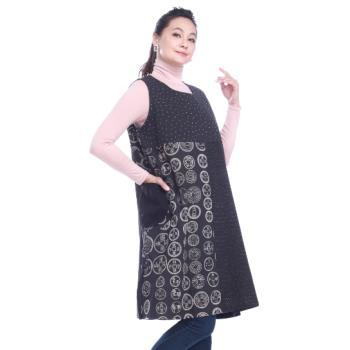 【手藝】多變化印染花色拼接長版背心裙(泰製)FHC4914-50A