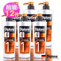 (即期品)【德國Diplona專業級】專業級強力修護洗髮精600ml(買6送6超值組)