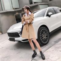 【Dorri】韓版純色綁帶風衣外套S-2XL(共三色)
