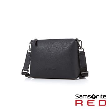 Samsonite RED HANIEE 繽紛多彩皮革肩背包(黑)HF1*09002
