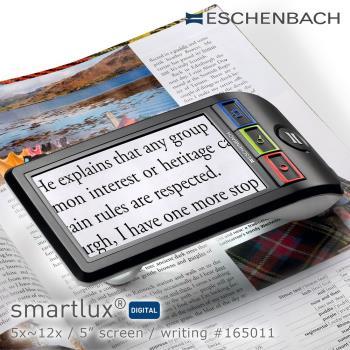【德國 Eschenbach 宜視寶】smartlux DIGITAL 5x-12x 5吋書寫用可攜式擴視機 電子式放大鏡 165011 (公司貨)