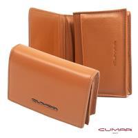 【CUMAR 義大利】Nappa 卡片包-名片夾-高容量型-橘黃色