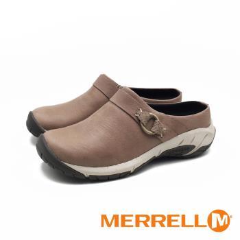 MERRELL(女) ENCORE SLIDE 4 牛皮便鞋涼拖鞋 - 卡其灰(另有黑)