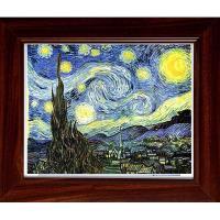[開運陶源]複製畫 油畫~星月夜 星空 Starry.starry night