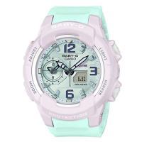 【CASIO】BABY-G 粉嫩雙色混搭設計休閒錶-水藍X粉紅(BGA-230PC-6B)