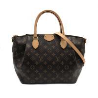 【Louis Vuitton】經典Monogram TURENNE 手提/斜背水餃包-MM(M48814-咖)