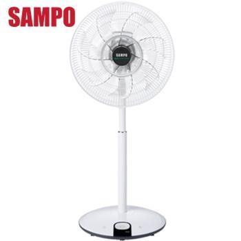 夏季回饋5%東森幣/折扣金★SAMPO 聲寶 - 14吋七片扇葉微電腦DC節能立扇 (附遙控器) SK-FP14DR