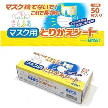【日本進口】日本製 拋棄式親膚不織布口罩墊片(50片/盒) x2