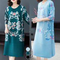 歐風KEITH-WILL (預購) 韓國設計女人傾心復古印花洋裝